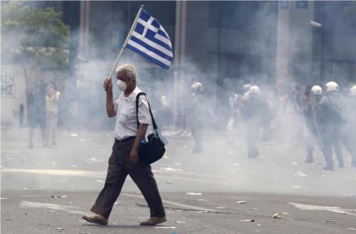Proteste in Grecia crisi economica