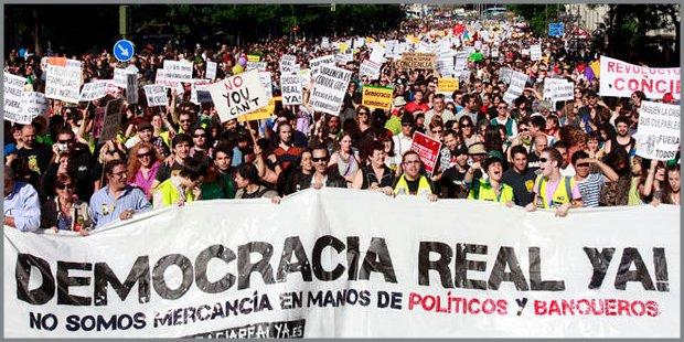Gli indignados della Spagna e le proteste a Madrid