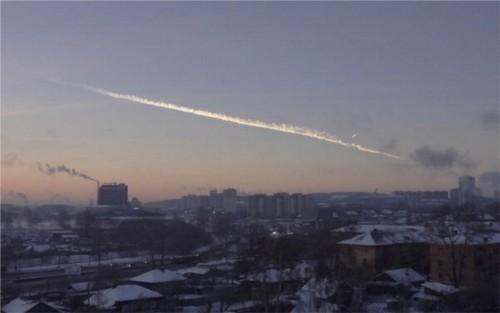 pioggia di meteoriti in Russia a Febbraio 2013