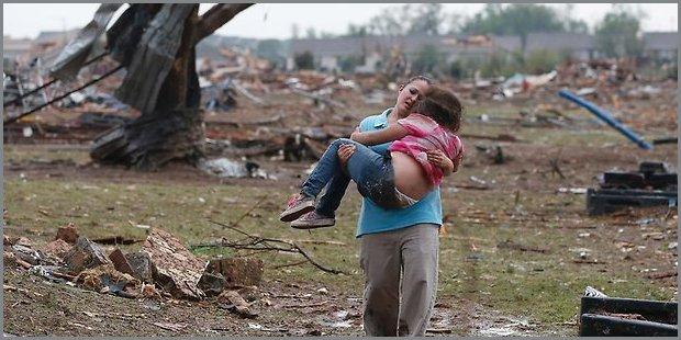 bambini morti per tornado in Oklahoma