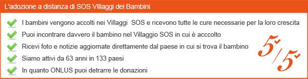 Adozione a Distanza sicura- SOS Villaggi dei Bambini