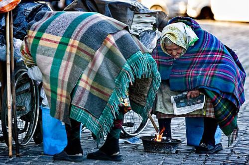 Un inverno freddo in italia, tantissime persone per strada