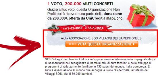 Unicredit vota per SOS Villaggi dei Bambini