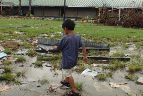 natale nelle Filippine dopo il tifone