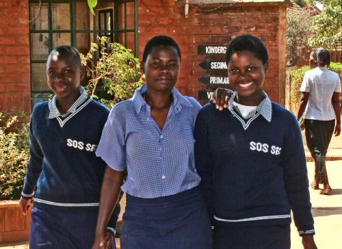 Ragazze della Casa del Giovane (foto di Ms Jennifer van Wyk)