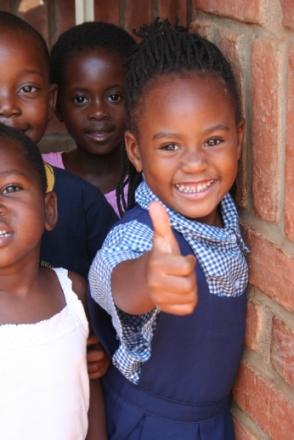 Una bambina del Villaggio SOS di Lilongwe