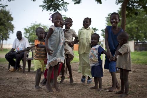 Alcuni bambini del Villaggio SOS di Malakal