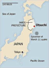 La posizione di Otsuchi