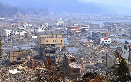 Otsuchi dopo lo tsunami