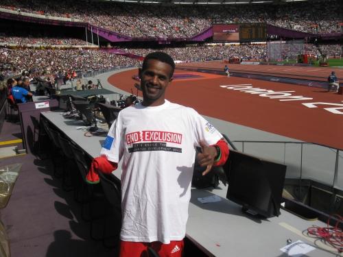 Wondiye Fikre Indelbu, atleta etiope medaglia d'argento nei 1500m alle Paralimpiadi di Londra 2012