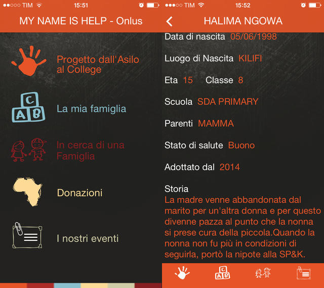 app su iphone per adozione a distanza